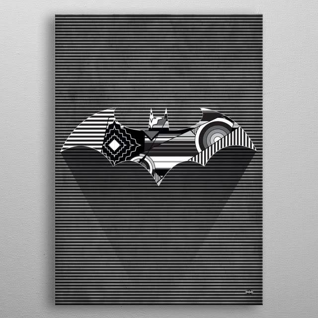 DC Comics Cubist Bat | Symbols of Hope | Displate