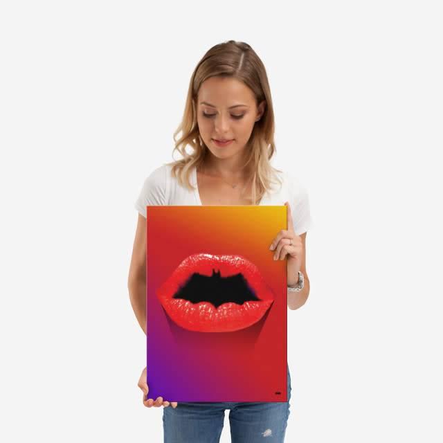 DC Comics Bat lips | Symbols of Hope | Displate