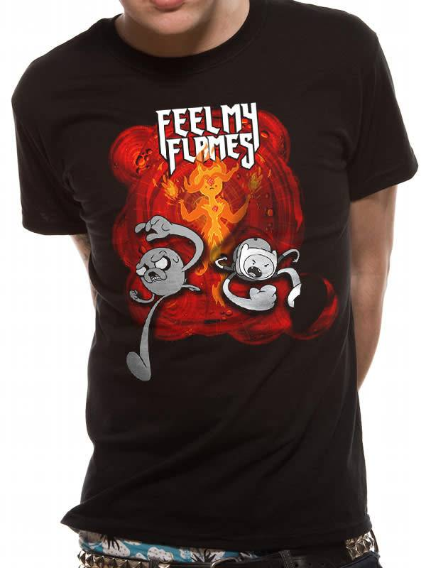 Adventure Time Feel My Flames - Adventure Time - T-shirt Black