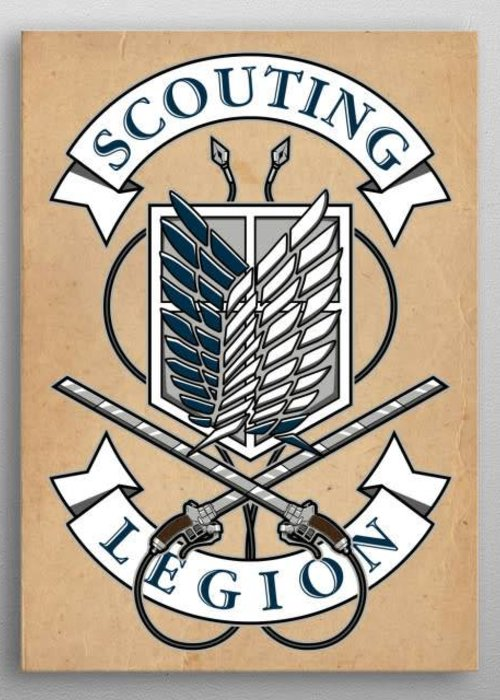 Olipop Art & Design Scouting Legion crest from Attack on Titan.  | Manga Anime
