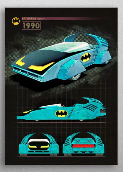 DC Comics 1990 |  Batmobile History