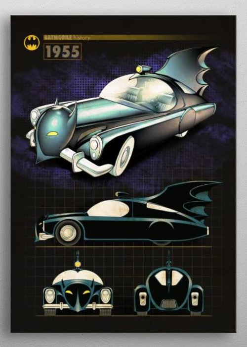 DC Comics 1955 |  Batmobile History