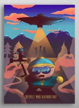 retina Cartman   Cartoon Frenzy   Displate