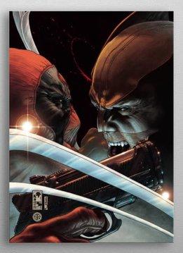 Displate Snikt vs Blam -Deadpool Gritty- Displate