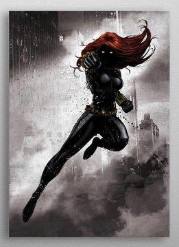 Marvel Black widow - Marvel Dark Edition - Displate First Numbered Print