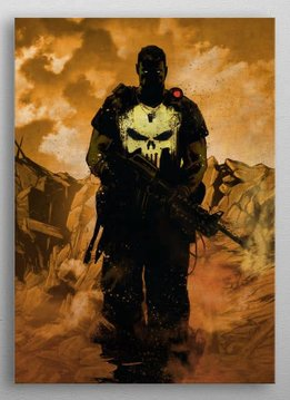 Displate Punisher - Marvel Dark Edition - Displate