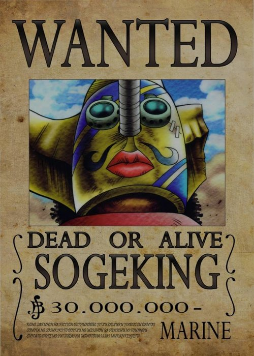 Nicolas Massot Wanted of Sogeking from One Piece  | One Piece Wanted
