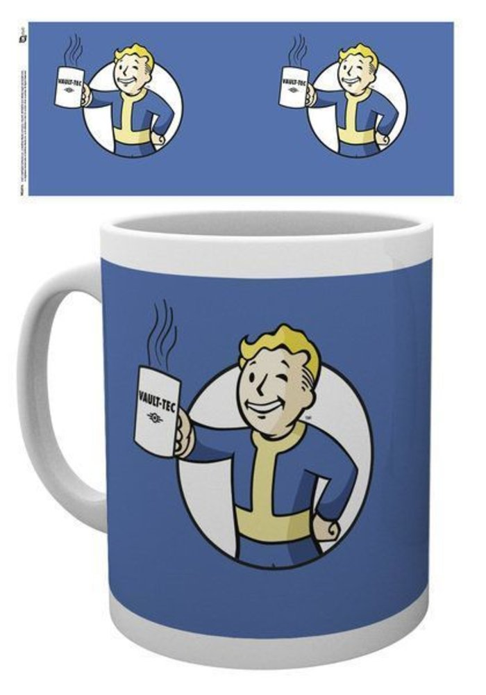 Fallout Vault Boy Holding Mug | Mug