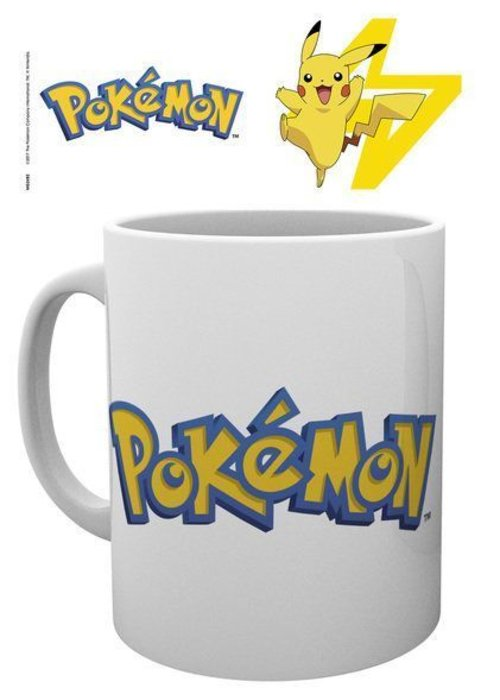 Pokemon Pokemon Logo and Pikachu | Tasse a cafe