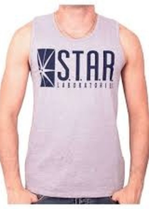 DC Comics The Flash | Star Laboratories | Tank Top Blue
