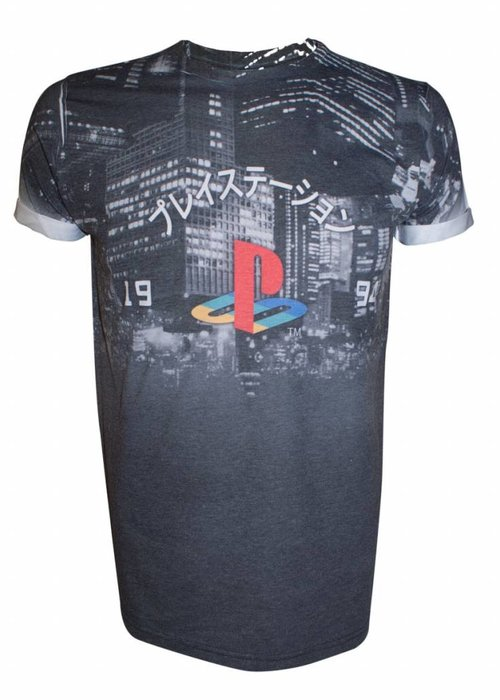PlayStation Playstation | Classic Logo on City | T-Shirt