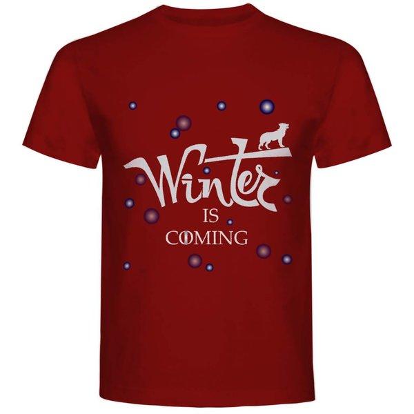 T-shirt met print: Winter is coming (Games of Thrones)