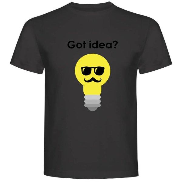 T-shirt met print: Got Idea?