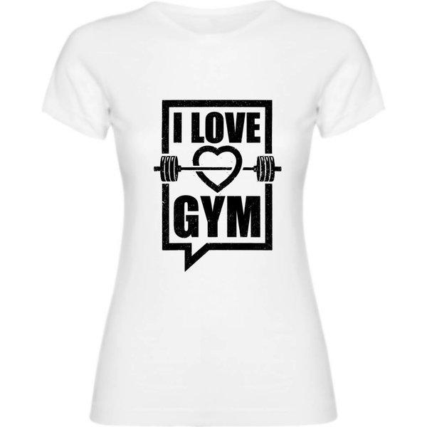 Ladies T-shirt met print: I love Gym