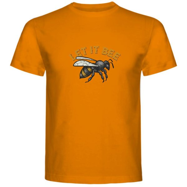 T-shirt met print: Let it Bee