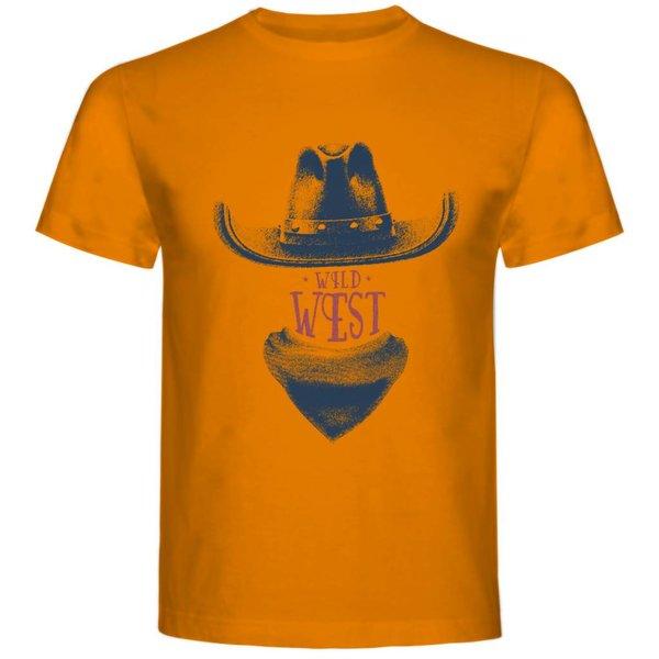 T-shirt met print: Wild West