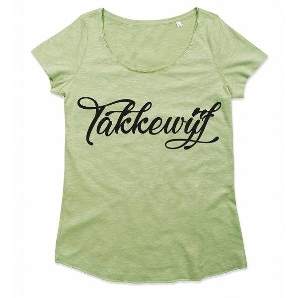 Ladies T-shirt met print: Takkewijf