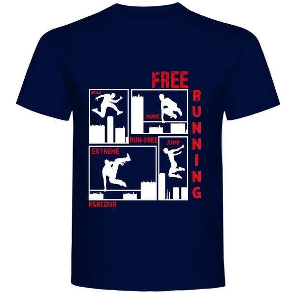 T-shirt met print Free running