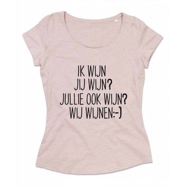 T-shirt met print: Wij wijnen:-)