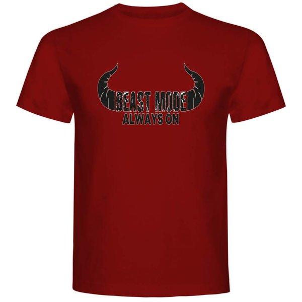 T-shirt met print: Beast mode always on