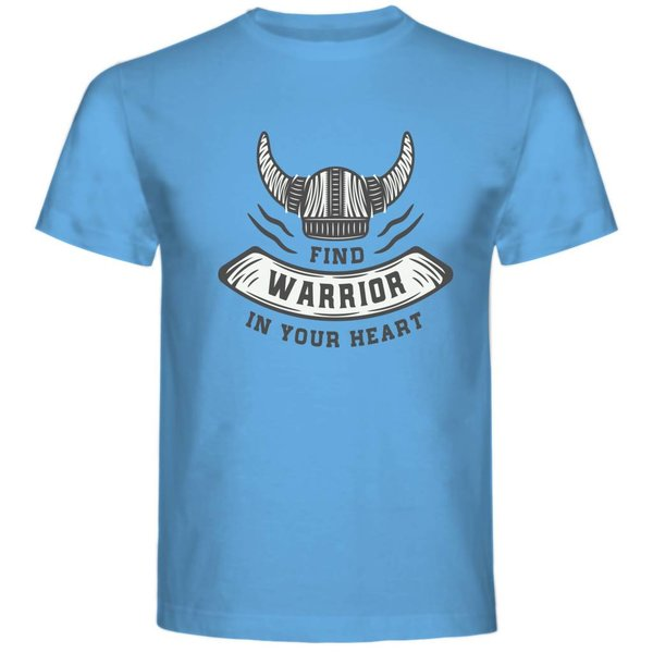 T-shirt met print: Find warrior in your heart