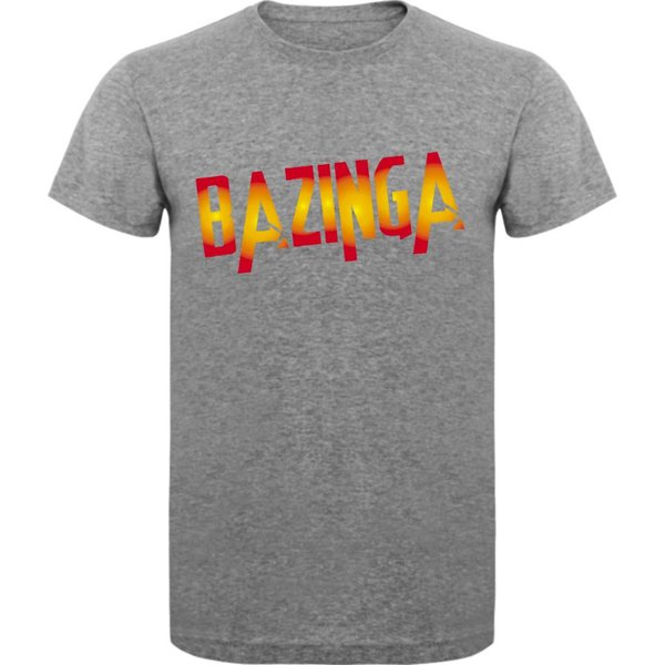 T-shirt met print: Bazinga