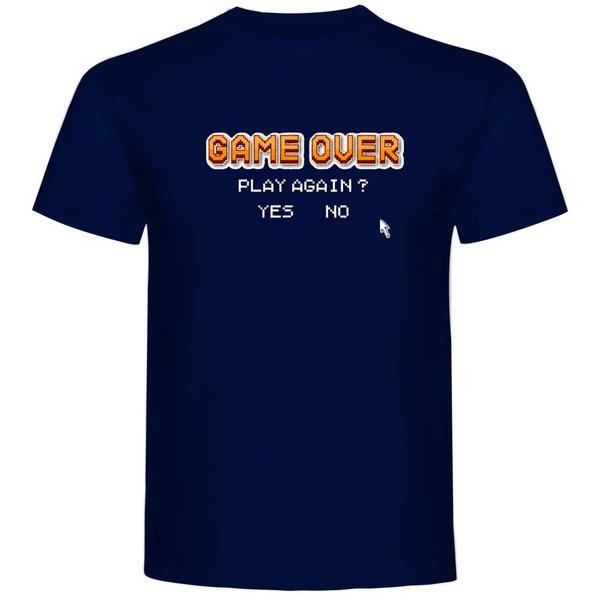 T-shirt met print: Game over play again