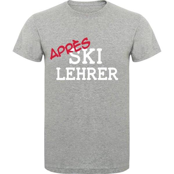 T-shirt met print:Apres Ski Lehrer