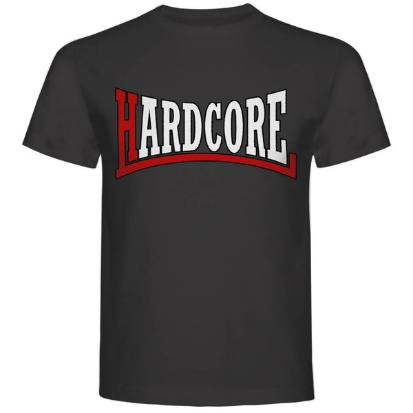T-shirt met print: Hardcore