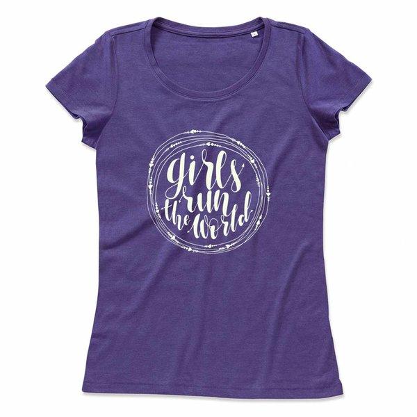 Ladies T-shirt met print: Girls run the World