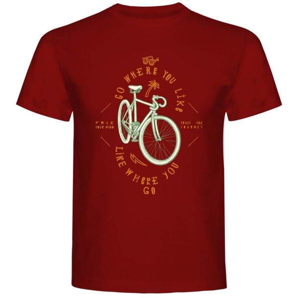 T-shirt met print: Go where you like, like where you go