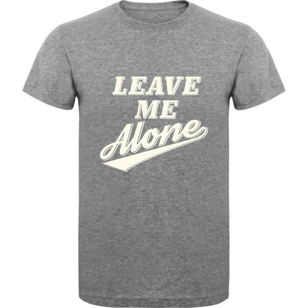 T-shirt met print: Leave me alone
