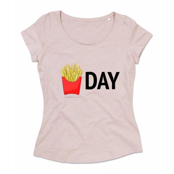 Ladies shirt met opdruk: Fries day