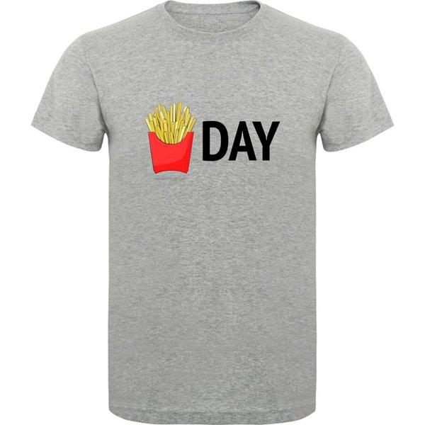 T-shirt met print: I've got the Power (men)Fries day (him)