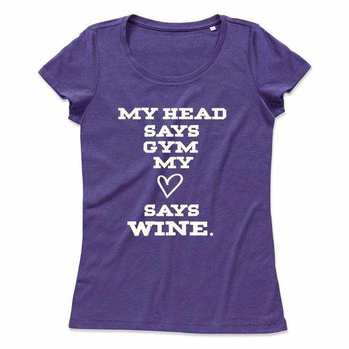 My head says gym, my heart says wine.