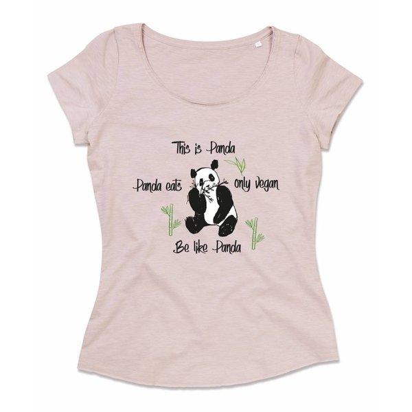 Ladies shirt met opdruk: Be like Panda