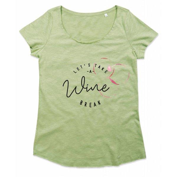 Ladies T-shirt met print: Let's take a Wine break