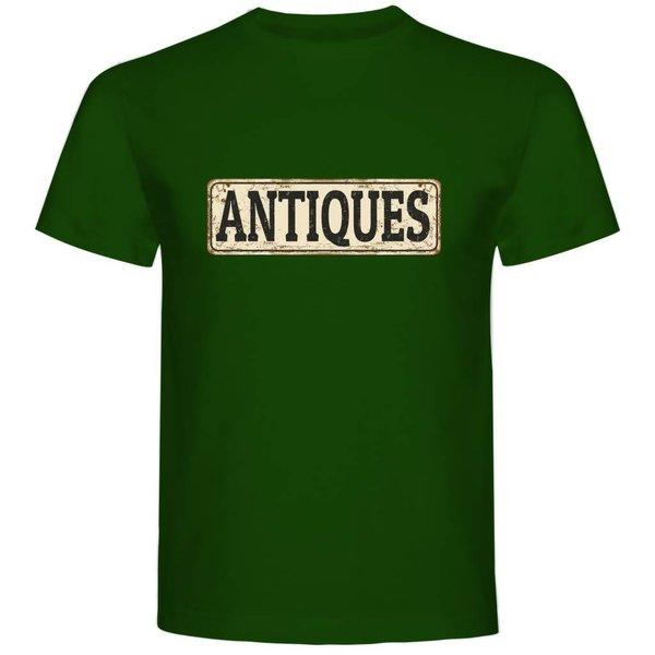 T-shirt met print: Antiques