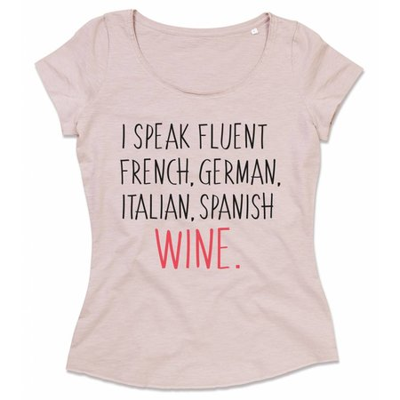 I speak fluent French, German, Italian, Spanish wine