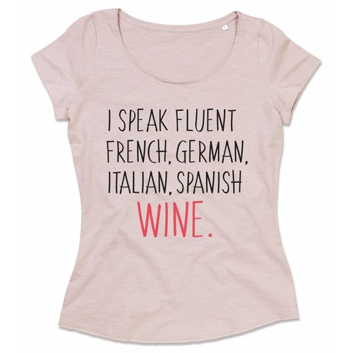 I speak fluent French, German, Italian, Spanish wine