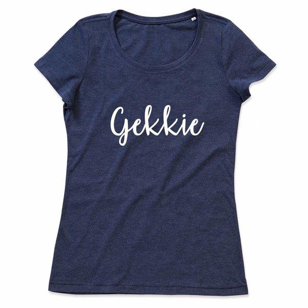Ladies T-shirt met print: Gekkie