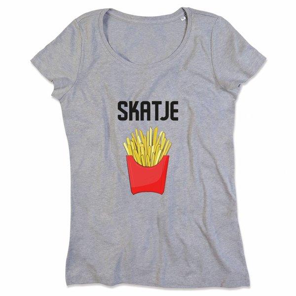 Ladies T-shirt met print: skatje patatje