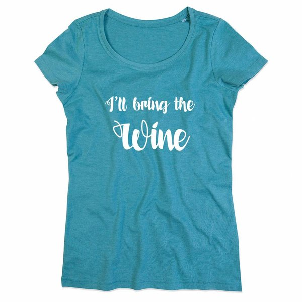 Ladies T-shirt met print: I'll bring the Wine