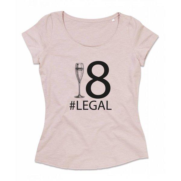 Ladies T-shirt met print:18 # Legal