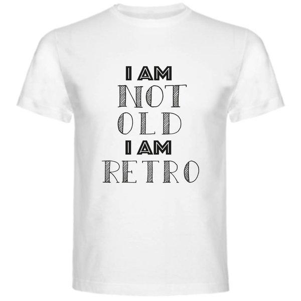 T-shirt met print: I am not old i am retro