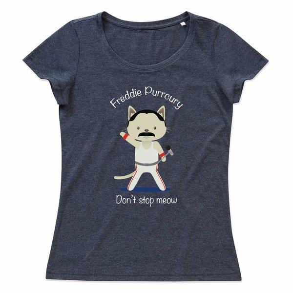 Ladies T-shirt met print: Freddie Purrr