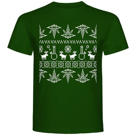Fout Kerst shirt Weed