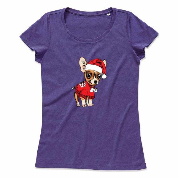Ladies T-shirt met printChristmas Chihuahua