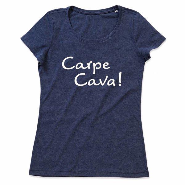 Ladies T-shirt met print: Carpe Cava!