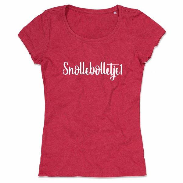Ladies T-shirt met print: Snollebolletje1